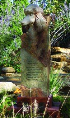 Poodle Large Cremation Memorial