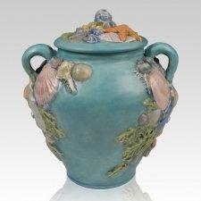 Seashell Ceramic Companion Cremation Urn