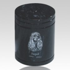Black Large Pet Marble Urn