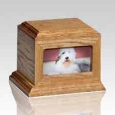 Fireside Pet Oak Picture Urn - Large