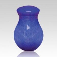 Pet Blue Large Glass Urn