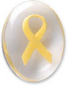 Awareness Yellow Ribbon Comfort Stone