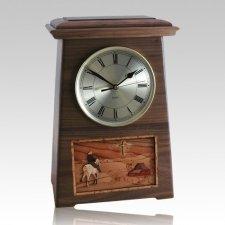 Riding and Farmhouse Astoria Clock Walnut Cremation Urn