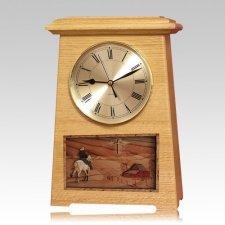 Riding and Farmhouse Astoria Clock Oak Cremation Urn