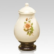 Yellow Rose Large Ceramic Urn