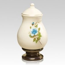 Blue Rose Large Ceramic Urn