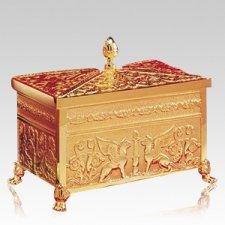 Sarcophagus 24k Gold Bronze Cremation Urn