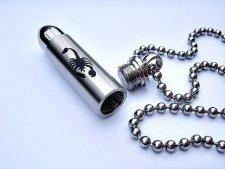 Scorpion Bullet Cremation Keychain