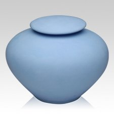 Blue Sea Companion Porcelain Clay Urn