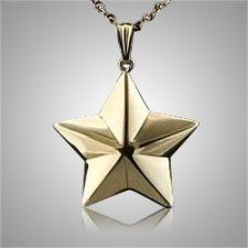 Shaped 5 Point Star Keepsake Pendant