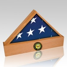 Jefferson Army Oak Flag Case & Urn