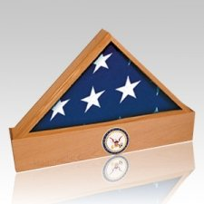 Jefferson Coast Guard Oak Flag Case & Urn