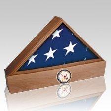 Lincoln Coast Guard Walnut Flag Case & Urn