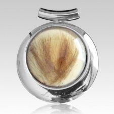 Oval Hair Cremation Ash Pendant III
