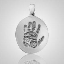 Regular Casing Hand Print 14k White Gold Keepsakes