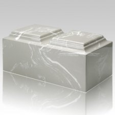 Silver Gray Marble Companion Cremation Urn