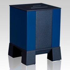 Blue & Black Children Cremation Urn