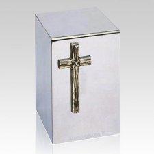 Rugged Cross Steel Cremation Urn