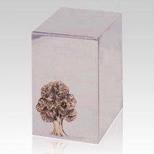 Oak Tree Steel Cremation Urn