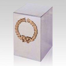 Wreath Steel Cremation Urn