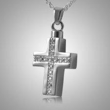 Crystal Cross Keepsake Pendant