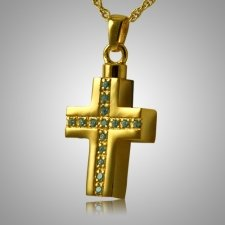 Crystal Cross Keepsake Pendant IV