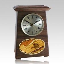 Surfing Astoria Clock Walnut Cremation Urn