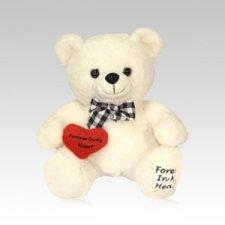 White Teddy Bear Urn