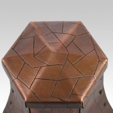 Cracked Toulouse Copper Cremation Urn