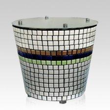 Tower Mosaic Ceramic Urn