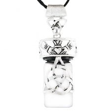 Trinity Heart Cremation Necklace