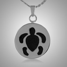 Round Turtle Cremation Jewelry III