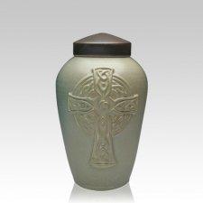 Celtic Cross Ceramic Medium Cremation Urn