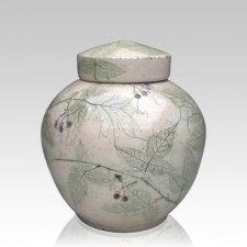 Blackberry Raku Medium Cremation Urn