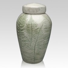 Fern Raku Companion Cremation Urn