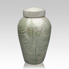 Fern Raku Cremation Urn