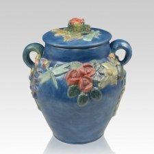 Garden of Eden Ceramic Cremation Urn