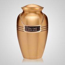 Brushed Brass Urn Plaque