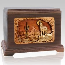 Desert Moon Walnut Cremation Urn For Two