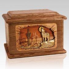 Desert Moon Walnut Memory Chest Cremation Urn