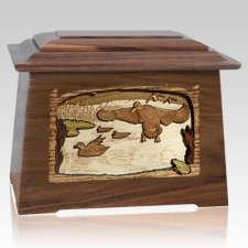 Marshland Melody Walnut Aristocrat Cremation Urn
