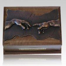 Close to God Walnut & Bronze Cremation Urn