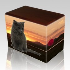 Country Walnut Pet Picture Urn II