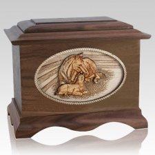 Daddys Love Walnut Cremation Urn
