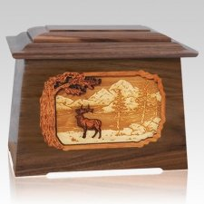 Elk Walnut Aristocrat Cremation Urn