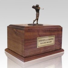 Golfing to Heaven Walnut Urn