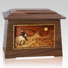Horse Moon Walnut Aristocrat Cremation Urn