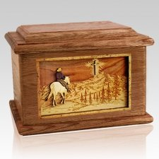 Last Horse Ride Walnut Memory Chest Cremation Urn