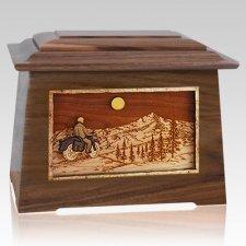 Motorcycle Mountains Walnut Aristocrat Cremation Urn