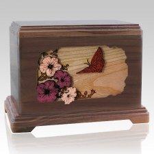 Butterfly Walnut Hampton Cremation Urn